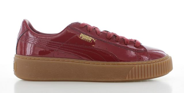Puma Basket Platform Patent Red Dames