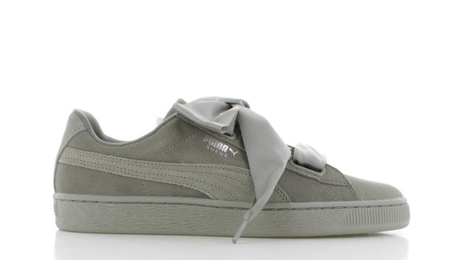 Puma SUEDE HEART PEBBLE Grijs Dames