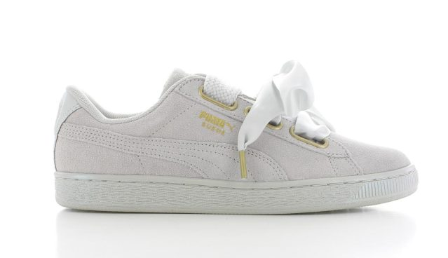 Puma Suede Heart Satin Grey Dames