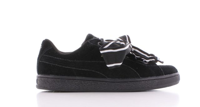 Puma Suede Heart Satin II Black Dames