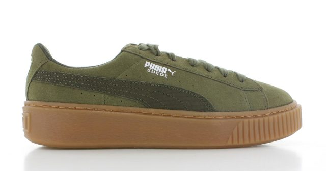 Puma Suede Platform ´Animal Pack´ Olijf Dames