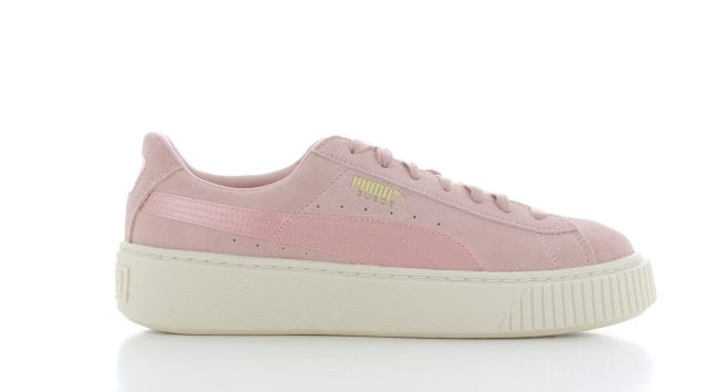 puma suede platform satin pink dames 365828 02 gratis. Black Bedroom Furniture Sets. Home Design Ideas