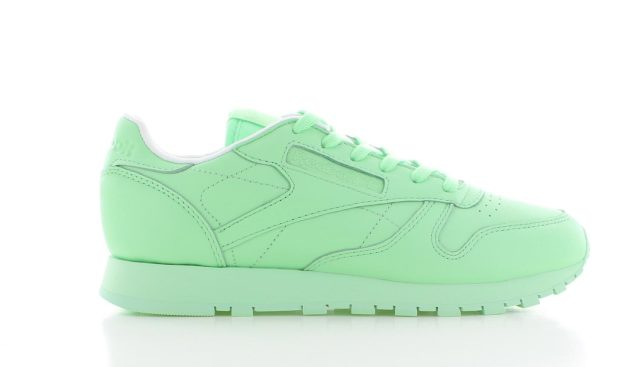 Reebok Classic Leather Mint Green / White Dames