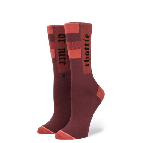 Stance Socks The Thottie Fenty By Rihanna Bordeaux