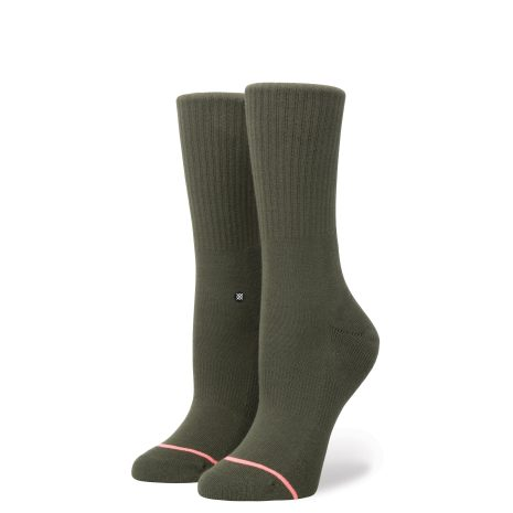 Stance Socks Uncommon Classic Crew Army Green