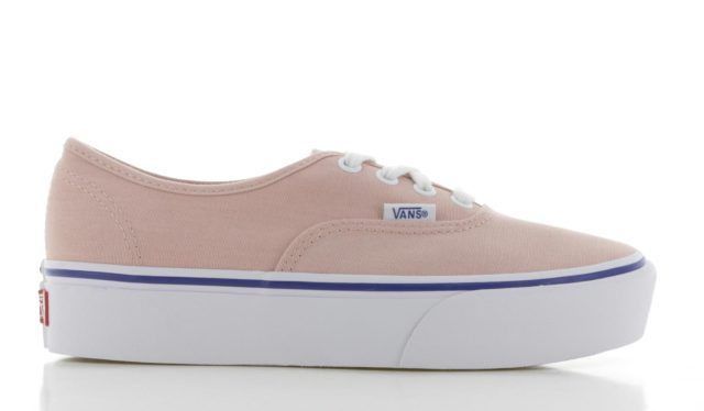 Vans Authentic Platform 2.0 Zalm Roze Dames