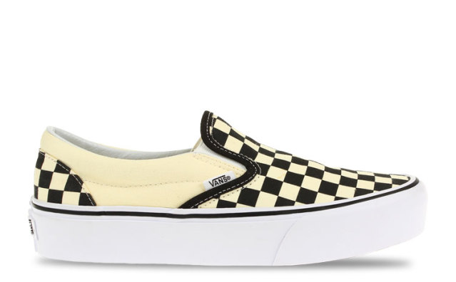 Vans Classic Slip-On Checkerboard Platform Dames