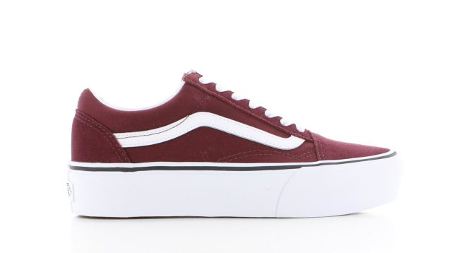 Vans Old Skool Platform Port Royale Rood Dames