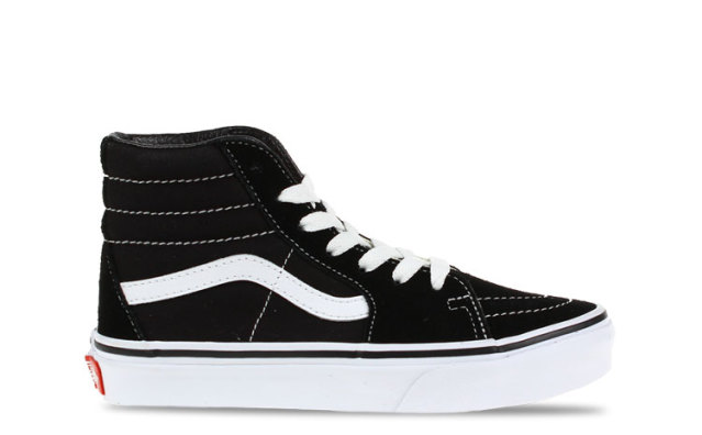 Vans Sk8 Hi Black True White KIDS