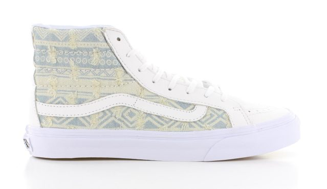 Vans Sk8 Hi Slim Frayed Native True White Dames