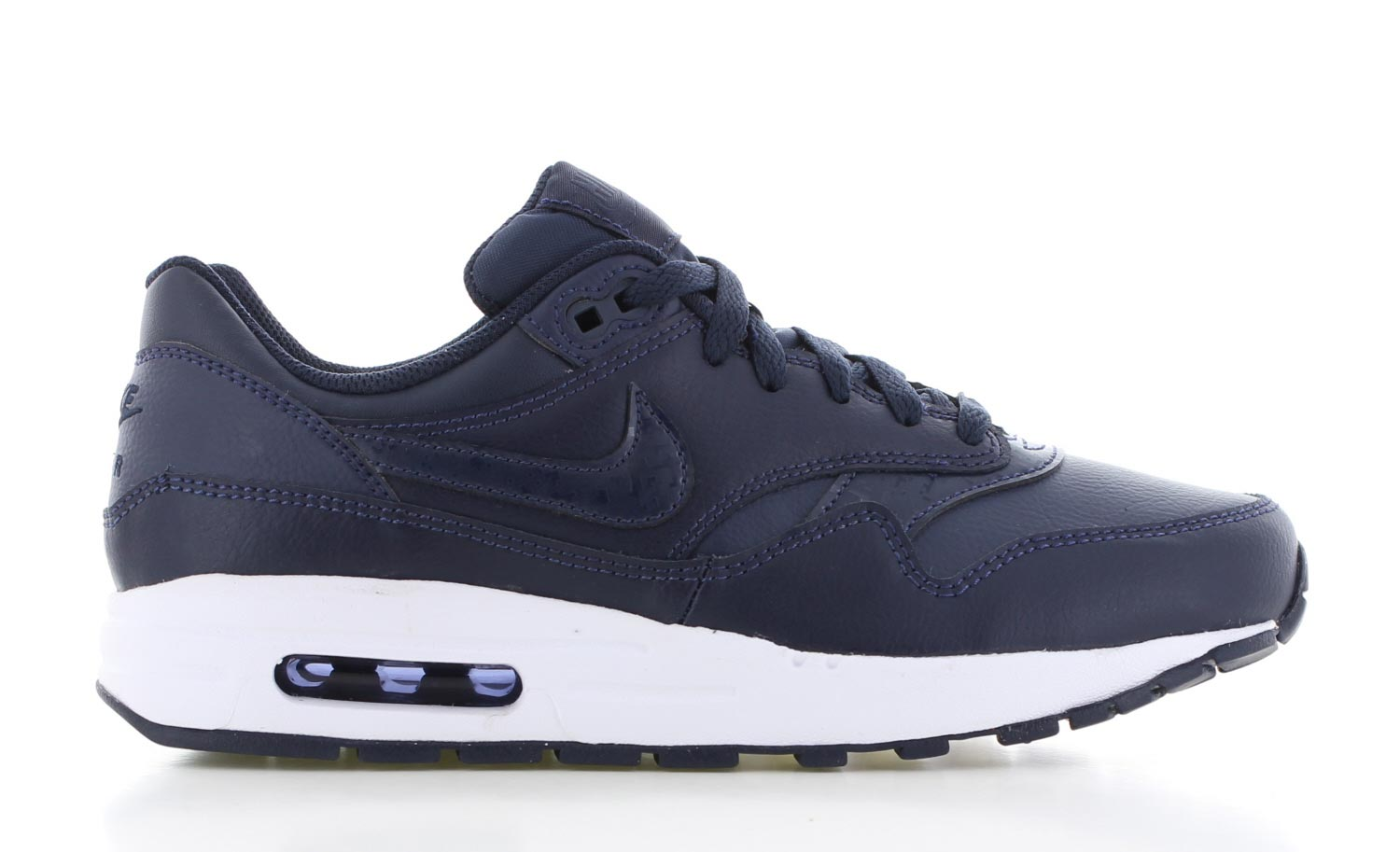 nike air max 1 dames blauw wit