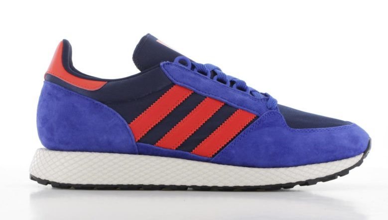 adidas Forest Grove Blauw/Rood Heren