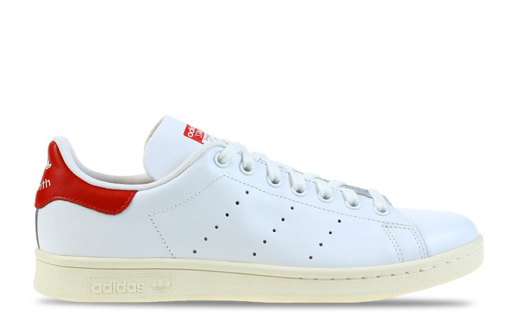 adidas Stan Smith Wit/Rood Heren