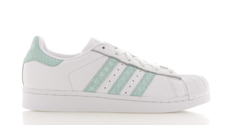 adidas Superstar Wit/Groen Dames