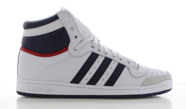 adidas Top Ten Hi Wit/Blauw Heren