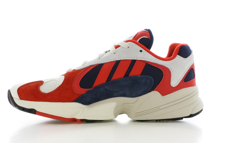 adidas Yung-1 Wit/Rood Heren