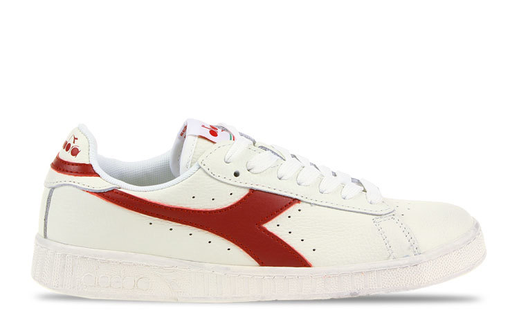 Diadora Game L Low Waxed Wit/Rood Dames