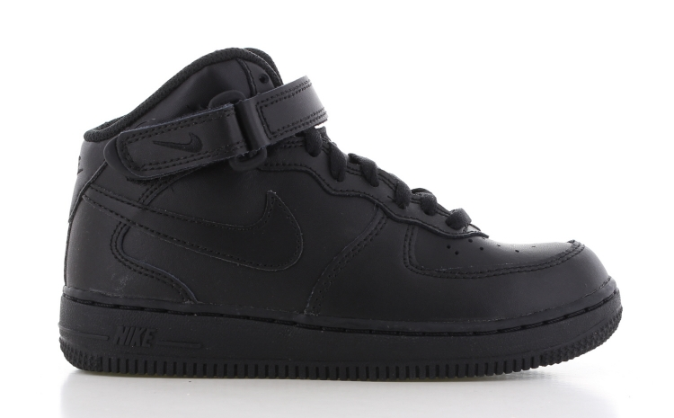 Nike Air Force 1 Mid Zwart Kids