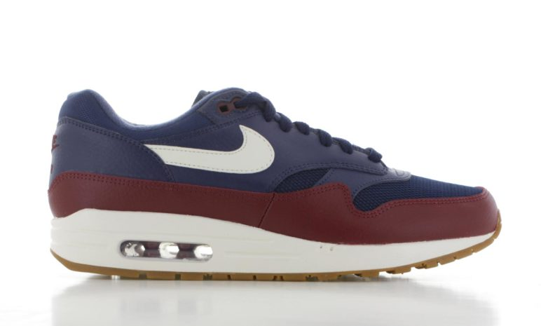 huge discount d7ca3 bfe02 Nike Air Max 1 Blauw bordeaux Rood Heren