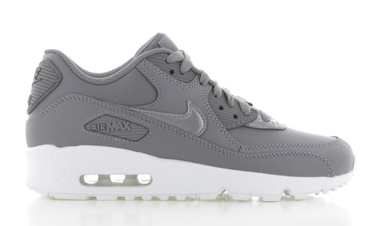 outlet store 6a8bf ea108 Nike Air Max 90 Leather GrijsWit