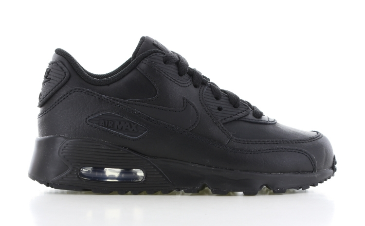 738ab9d110e Nike Air Max 90 Leather PS Zwart/Zwart | 833414-001 | Sneakers.nl