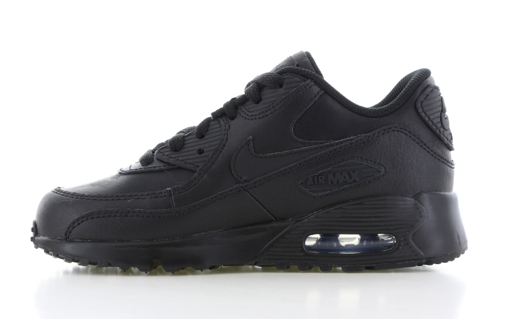 separation shoes 31616 801c1 Nike Air Max 90 Leather PS Zwart Zwart Kinderen
