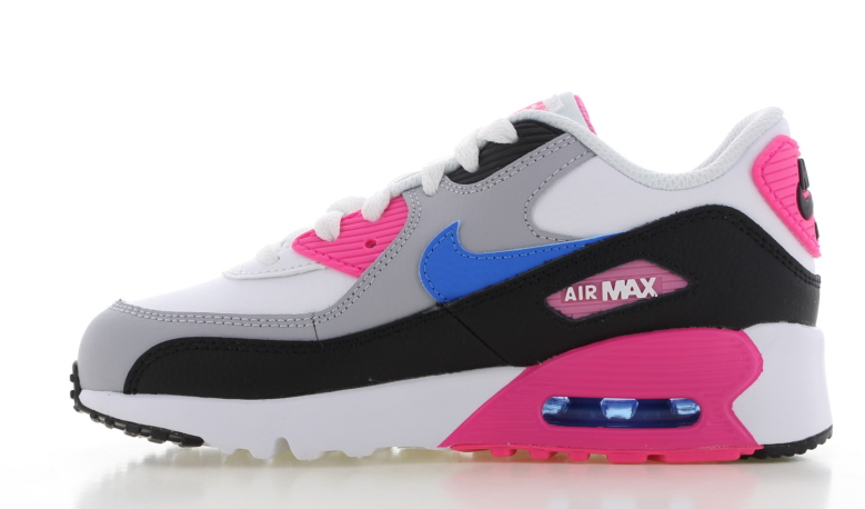 Nike Air Max 90 Leather WitZwartRoze Kids NIKE | Air Max