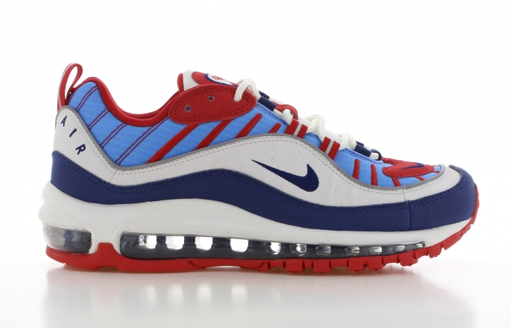 Nike Air Max 98 Wit/Rood/Blauw Dames