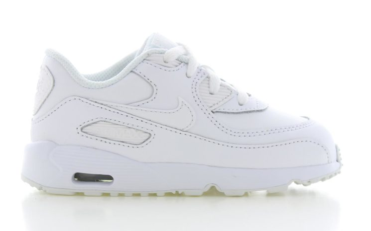 new product bf835 30f17 Nike Boys Air Max 90 Leather Wit Peuters