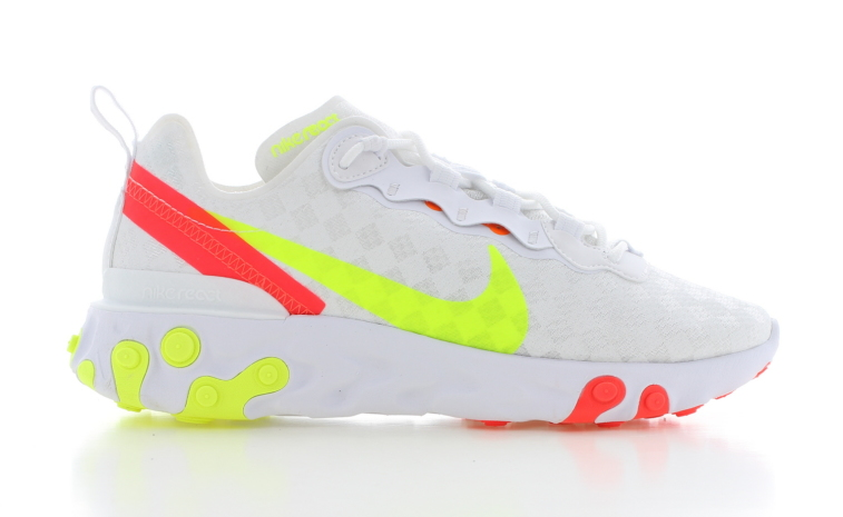 where to buy high quality buy best Nike React Element 55 Wit Dames