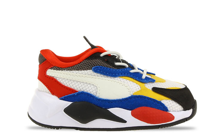 Puma RS-X³ Puzzle Wit/Blauw/Geel Peuters