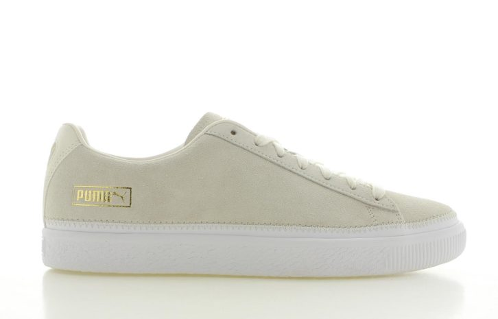 Puma Suede Trim Wit Heren
