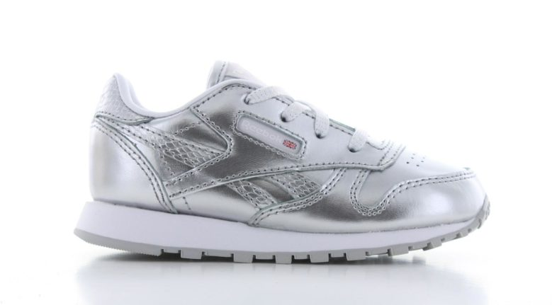 Reebok Classic Leather Zilver Peuters