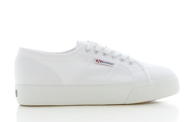 Superga Cotu Mid Sole Wit Dames