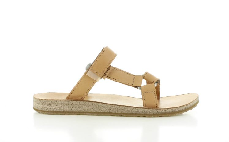 Teva Slide Leather Bruin Dames