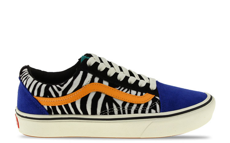 Vans ComfyCush Old Skool ZebraBlauw Dames