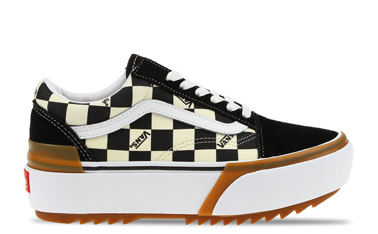 Vans Old Skool Stacked Checkerboard Dames
